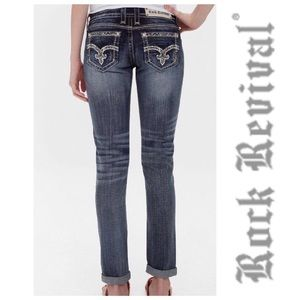 Rock Revival Embellished July Cuffed Skinny Jeans